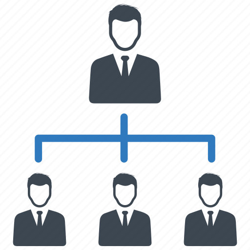 hierarchy, management, team icon