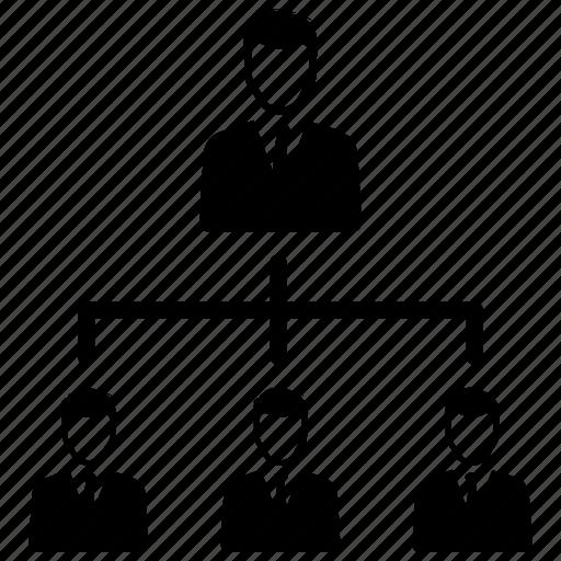 hierarchy, management, teamwork icon