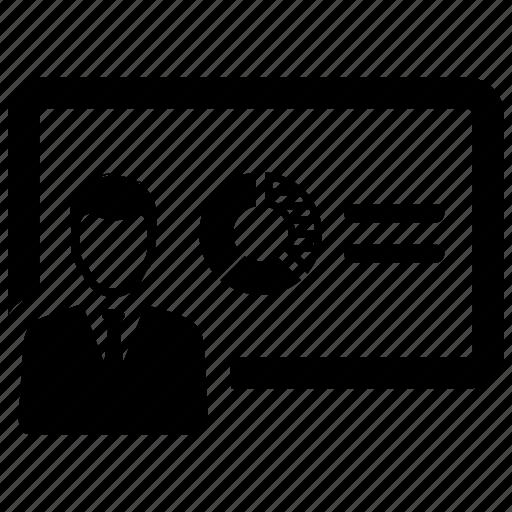 diagram, pie chart, presentation icon
