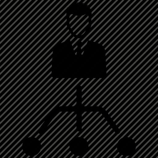 management, organization, structure icon