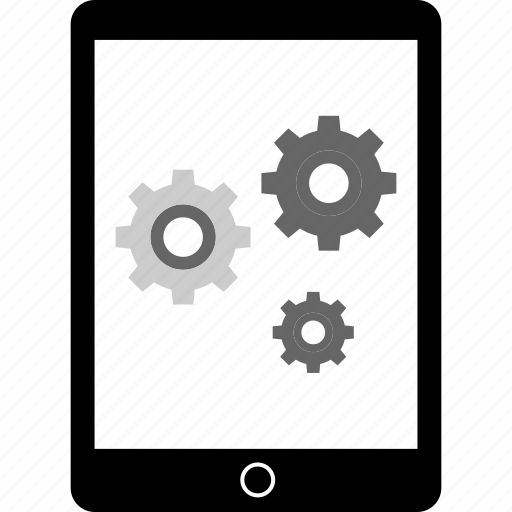 data, tablet, web icon