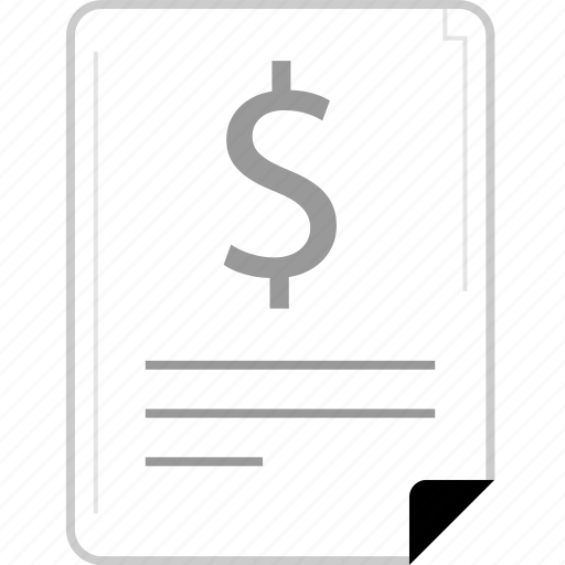 dollar, form, page icon