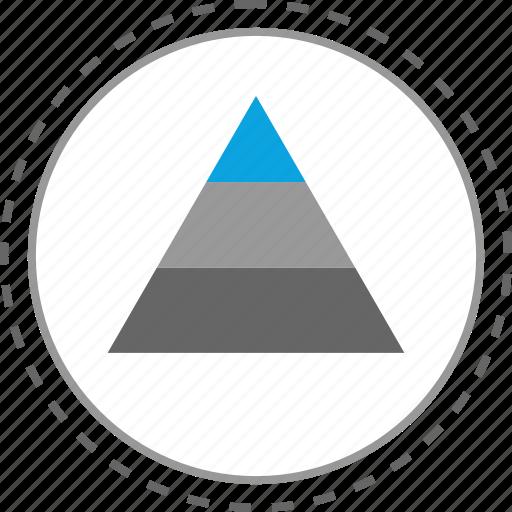 analytics, data, google, pyramid icon
