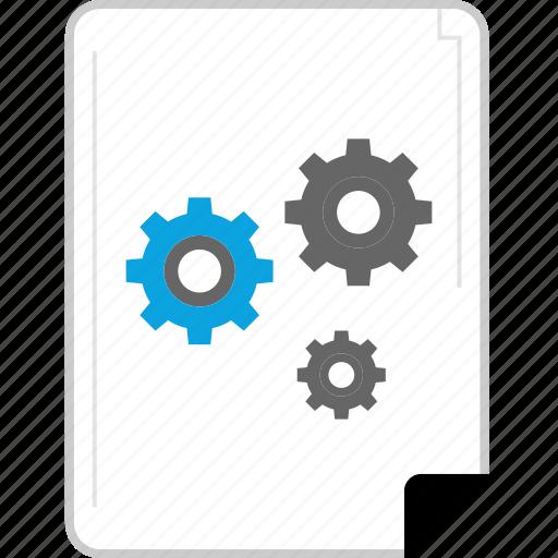 analytics, gear, settings, web icon