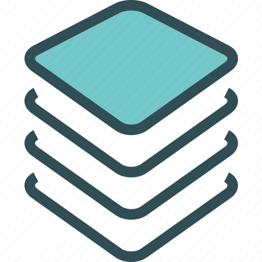 chip, cpu, layers, memory, usage icon