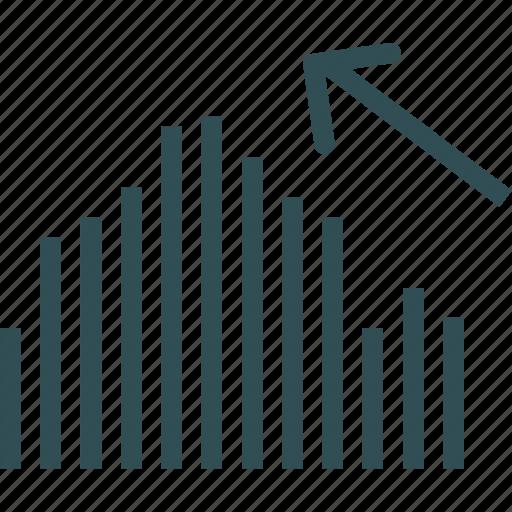 analysis, increase, statistics, stats icon
