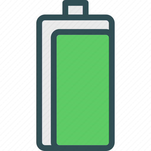 available, battery, full, online, up icon