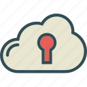 accesskey, cloud, lock, online, safe, unlock, upload icon