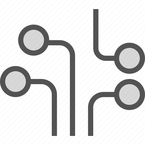 circuit, connections, structure icon
