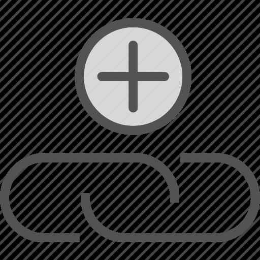 add, attachment, link, plus, web icon