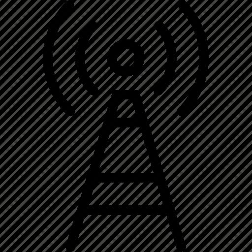 antenna, radio, signal, wifi icon