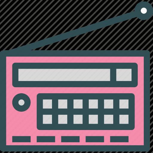 music, old, radio, signal, vintage icon
