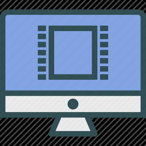 display, monitor, movie, screen icon
