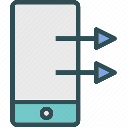 deviceswipe, gestures, mobile, phone, right, touch icon