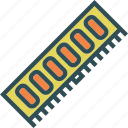 chip, component, device, part, ram, technology icon