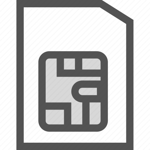 card, mobile, phone, sim icon