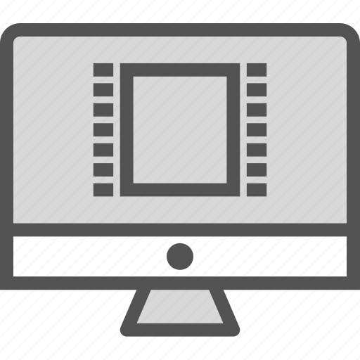 display, monitor, movie, screen icon