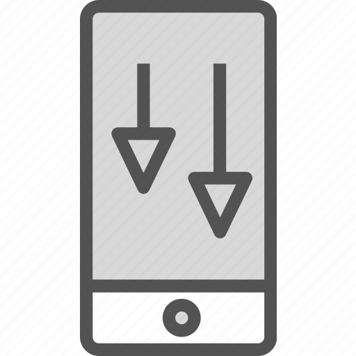 deviceswipe, down, gestures, mobile, phone, touch icon