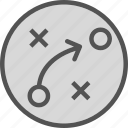 movement, plan, strategy icon