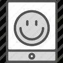 display, ipad, smileyface, tablet, touchscreen icon