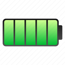 battery, charged, full icon