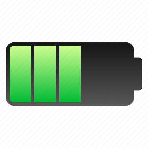 battery, charge, half icon