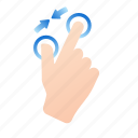 gestures, hand, pinchin, screen, touch, touch screen, zoom out icon