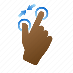 gestures, hand, pinch in, screen, touch, zoom out icon