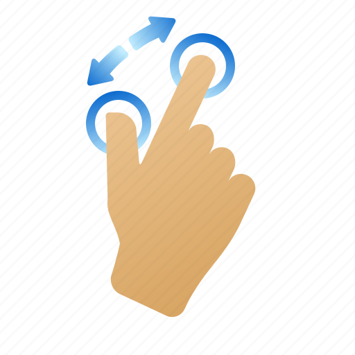 gestures, hand, pinchout, screen, zoom in icon