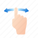 finger, gestures, hand, screen, swipe, tap, touch screen icon