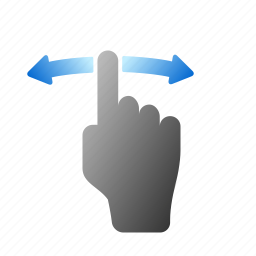 finger, gestures, hand, screen, swipe, tap, touch icon