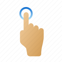 finger, gestures, screen, tap, touch icon