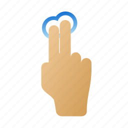 fingers, gestures, hand, screen, touch, two icon