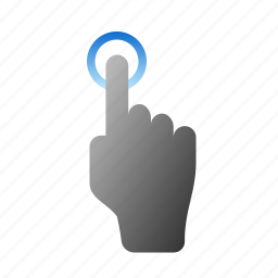 finger, gestures, hand, screen, tap, touch icon