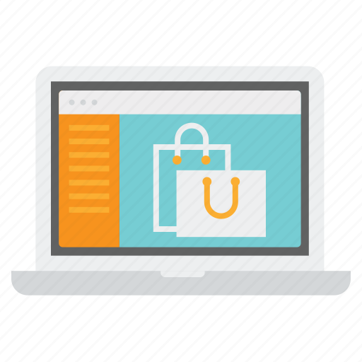 bag, display, laptop, product, products, sebsite, shopping icon