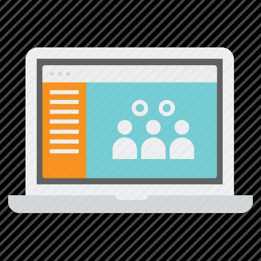 audience, customers, laptop, people, target, team, tg icon