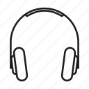 electronic, gadget, headphone, sound icon