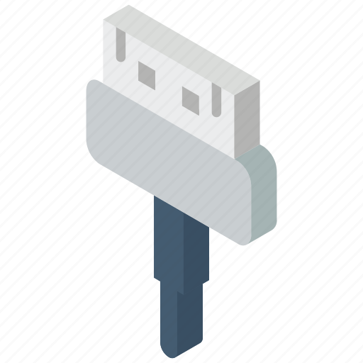 connection, iso, isometric, pin, tech, technology, thirty icon