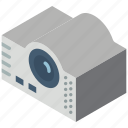 iso, isometric, projector, tech, technology icon
