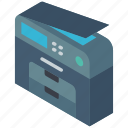 copier, iso, isometric, photo, tech, technology