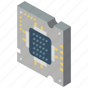chip, computer, iso, isometric, tech, technology