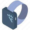 iso, isometric, smart, tech, technology, watch icon