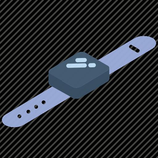 iso, isometric, smart, tech, technology, watch icon