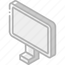 iso, isometric, monitor, tech, technology icon