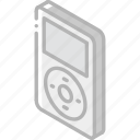 ipod, iso, isometric, tech, technology