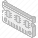 chip, computer, iso, isometric, tech, technology icon