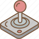 iso, isometric, joy, stick, tech, technology icon