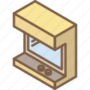 arcade, game, iso, isometric, tech, technology icon