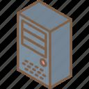 drive, hard, iso, isometric, tech, technology icon