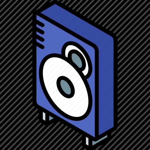 iso, isometric, speaker, tech, technology icon